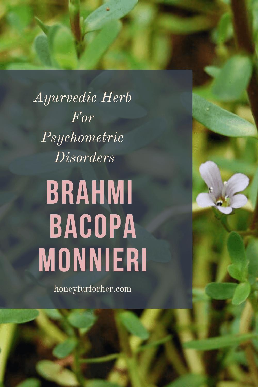 Brahmi Benefits Pinterest Pin Graphic