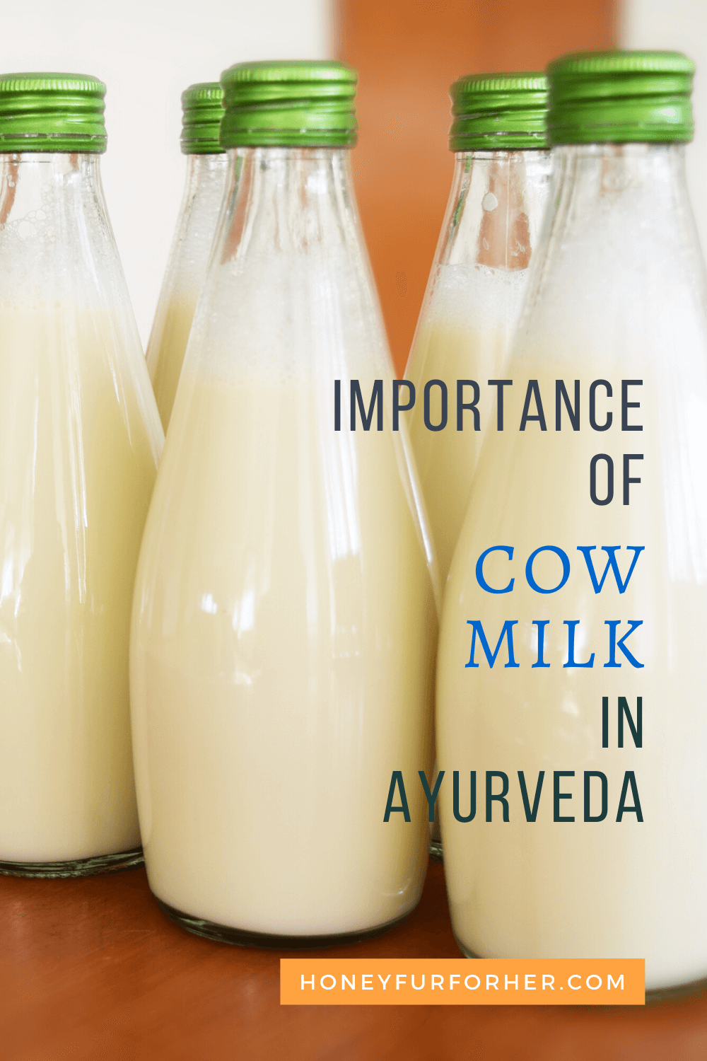 Importance Of Cow milk in Ayurveda Pinterest Pin Image