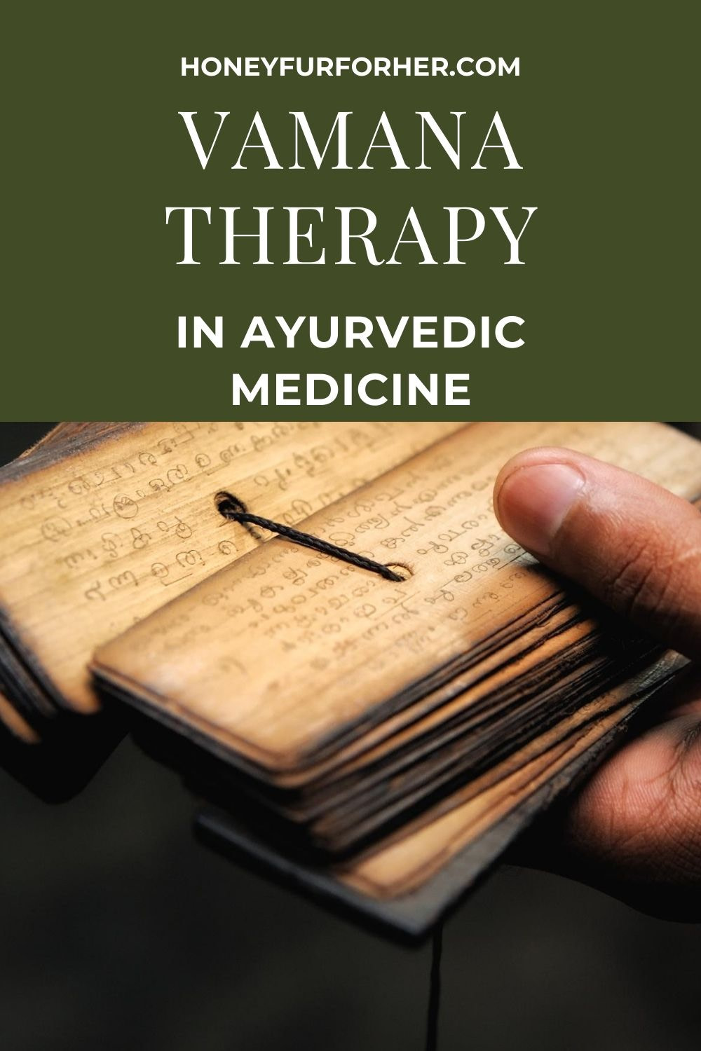 What is Vamana Therapy In Ayurveda Pinterest Graphic