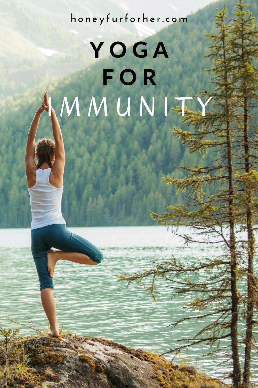 Yoga For Immunity Pinterest Graphic