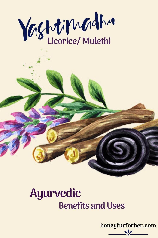 Yashtimadhu Licorice Mulethi Mulehati Plant Pinterest Image