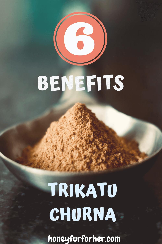 Trikatu Churna Benefits Pinterest Pin Graphic