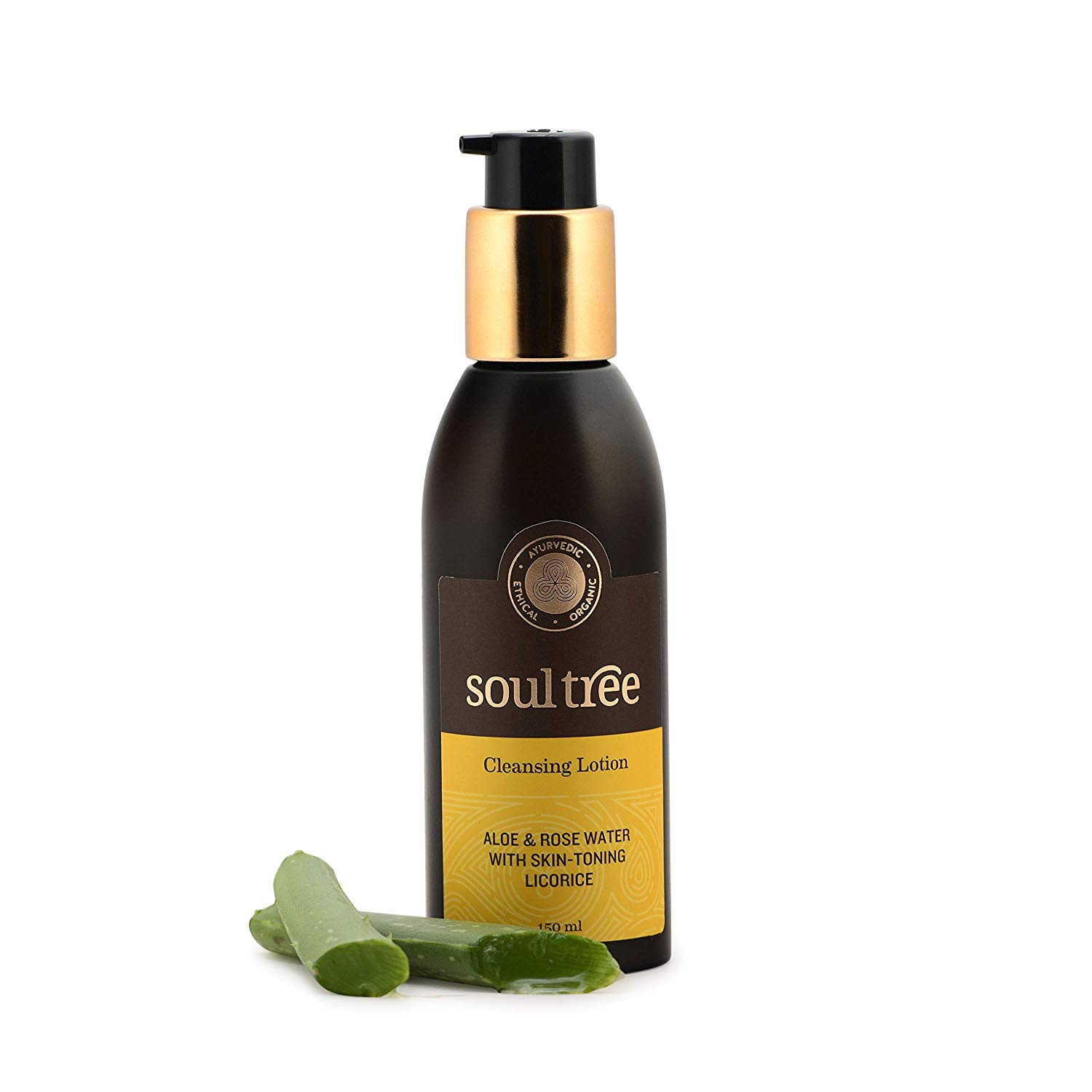 SoulTree Cleansing Lotion Aloe & Rose Water With Skin Toning Licorice
