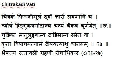 Chitrakadi Vati Shloka
