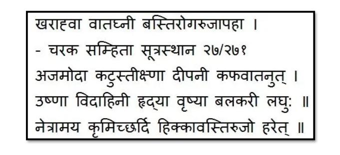 Ajamoda Bhavprakash Shloka