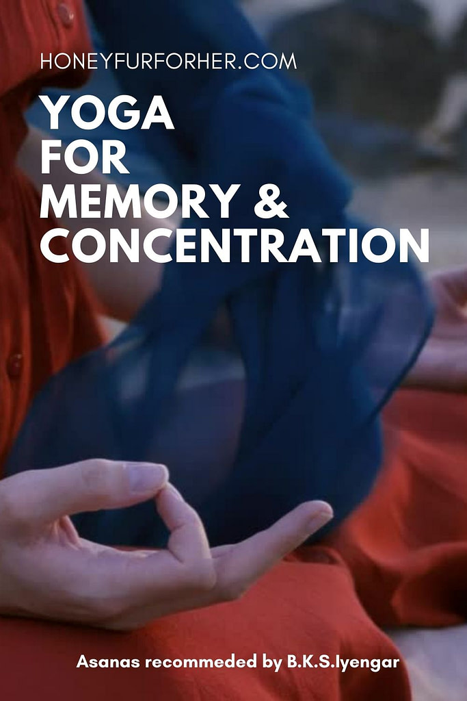 Yoga for memory and concentration pinterest pin 1