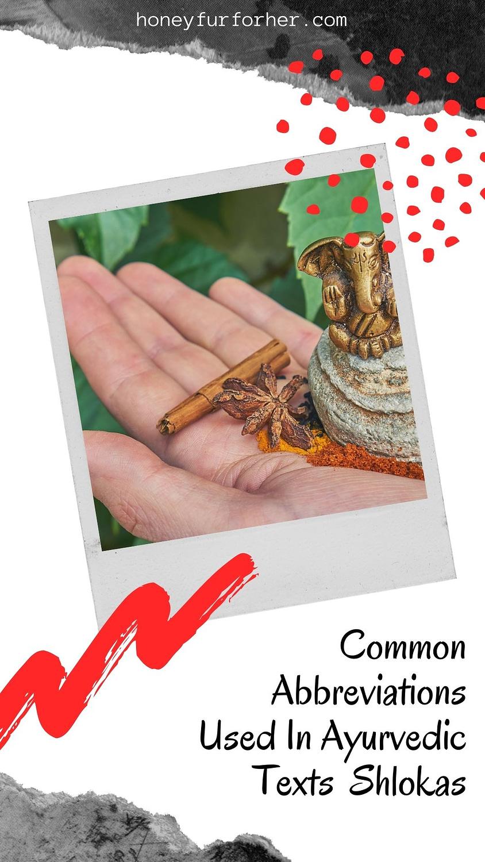 Common Abbreviations Used In Ayurvedic Texts Shlokas Pinterest Pin